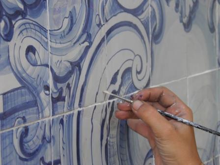 Conservação e Restauro de Azulejo_Reintegração cromática