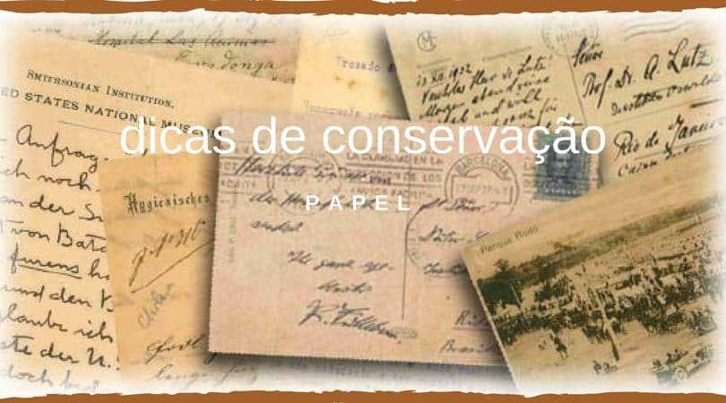Dicas de conservação de papel