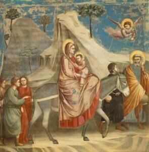 Giotto Fuga para o Egito Pintura figurativa