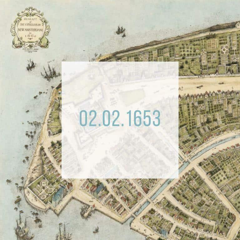 02.02.1653_New Amsterdam torna-se uma cidade (lmais tarde denominada Nova Iorque)