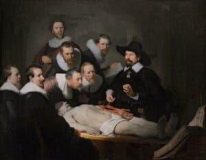 Rembrandtaula de anatomia