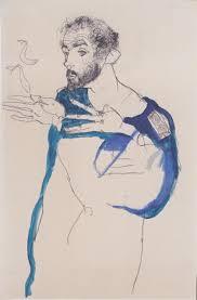 Retrato de Gustav Klimt por Egon Schiele