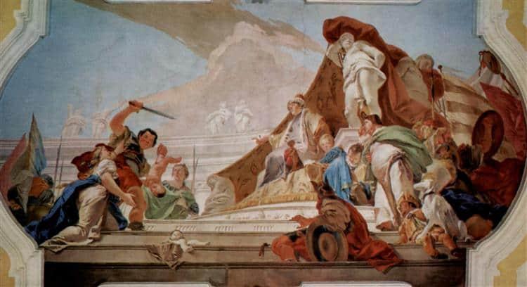 pintura barroca julgamento de salomão