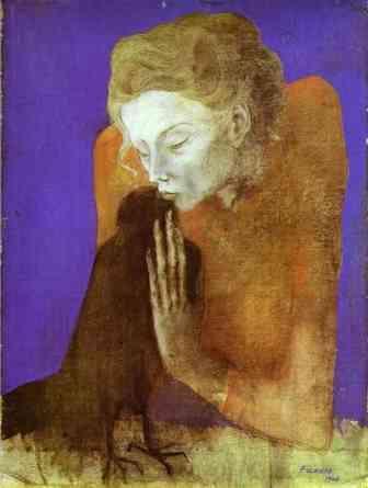 Pablo Picasso Mulher com corvo