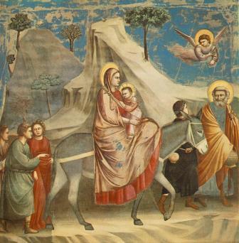 Giotto_-_Scrovegni_ Fuga para o Egito