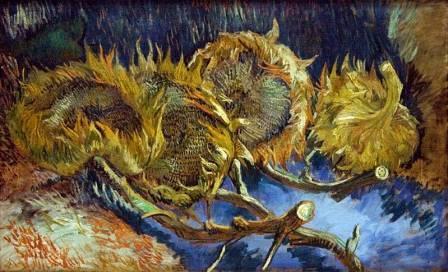 Quatro girassóis Van Gogh
