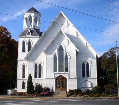 Gothic revival First Baptist Church Methuen MA