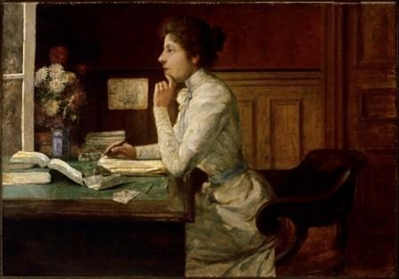 Abigail de Andrade, Mulher Sentada em Frente a Escrivaninha