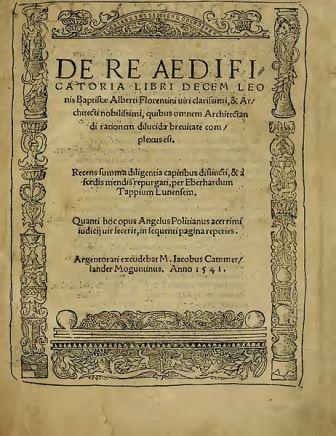 Alberti De Re Aedificatoria