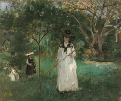 Berthe Morisot Caça de borboleta