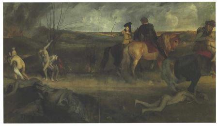 Edgar Degas Cena de guerra na idade Média
