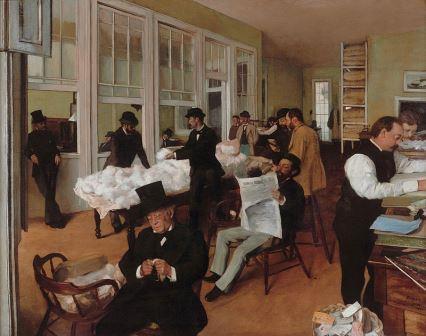 Edgar Degas Escritório de algodão