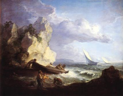 Gainsborough seashore with fishermen 1781
