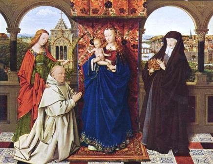 Jan van Eyck Virgem com o menino santos