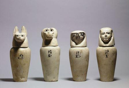 mumificação vasos canopos
