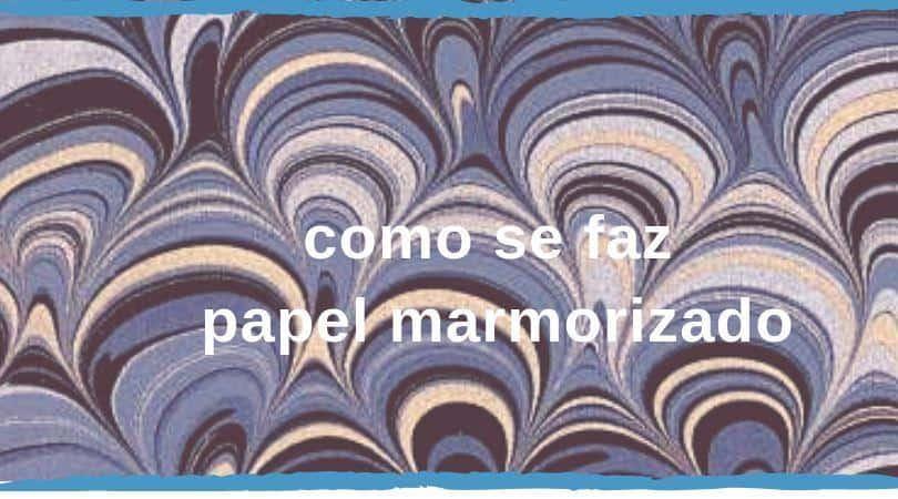 papel marmorizado