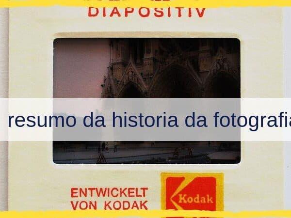 resumo da historia da fotografia
