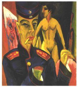 Ernst Kirchner autorretrato