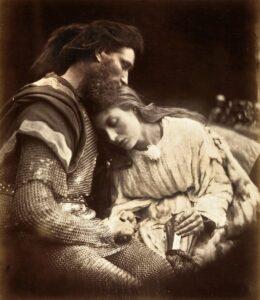 A despedida de Lancelot e Guinevere, Julia Margaret Cameron1874.