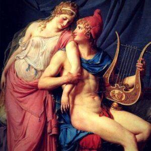 Helena e Páris Por Jacques-Louis David, 1788 Museu do Louvre 2