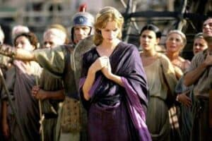 Sienna Guillory no filme Helena de Troia, 2003