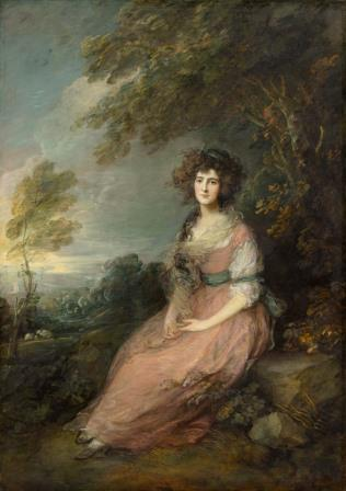 Mrs. Richard Brinsley Sheridan, de Thomas Gainsborough (século XVIII)