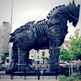 Cavalo de Tróia concebido para o filme Troia