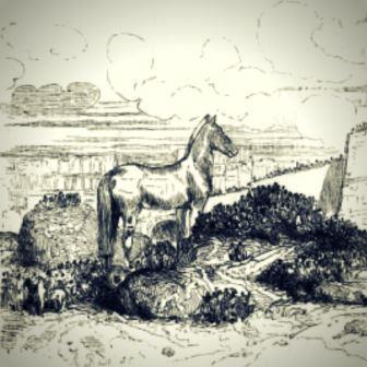 Ilustração para a Odisseia, de um livro de 1842.