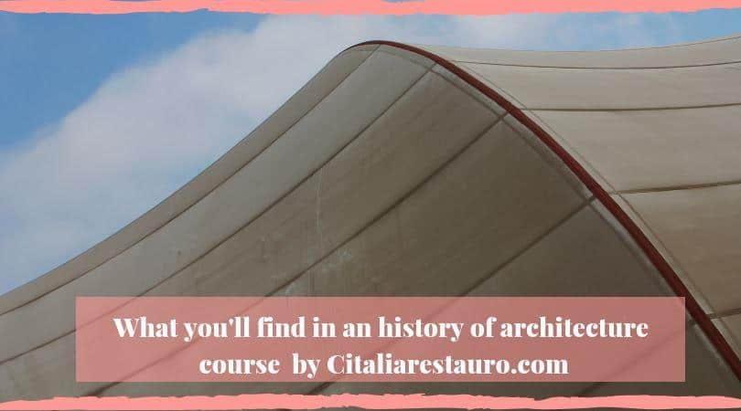history of architecture course