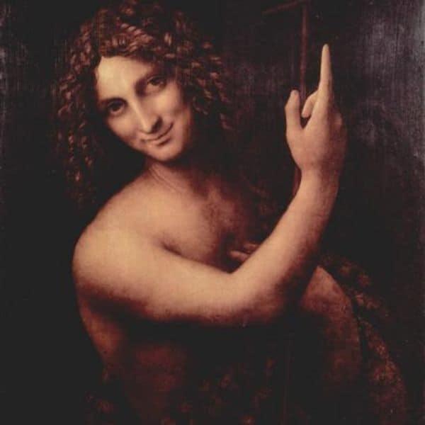 obras de Leonardo da Vinci São João Batista