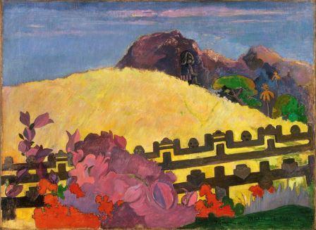 Pintura figurativa Paul Gauguin Parahi Te Marae