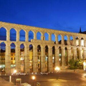 a arquitetura romana aqueduto segovia