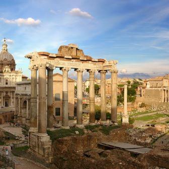 a arquitetura romana forum romano