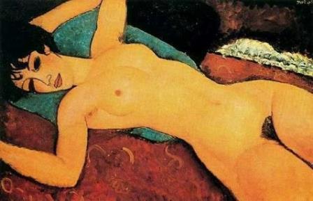 Reclining Nude, do pintor italiano Amedeo Modigliani mercado de obras de arte