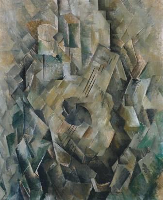 fases do cubismo A Guitarra, Georges Braque, 1909-10 (Tate Modern, Londres, Inglaterra).