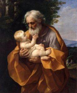 Guido Reni São José com o menino Jesus, fonte wikicommons