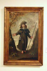 Menino Jesus Romeiro de Santiago (óleo sobre tela, autor desconhecido, segunda metade do século XVII; Museu de Aveiro - Portugal)