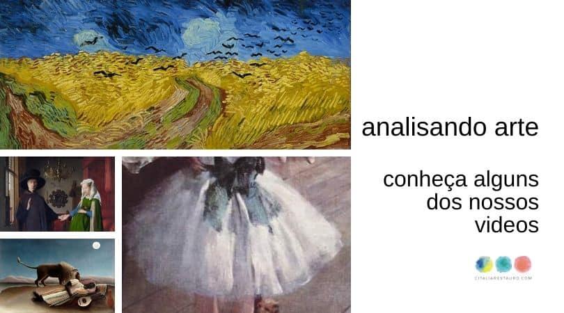 analise de obra de arte