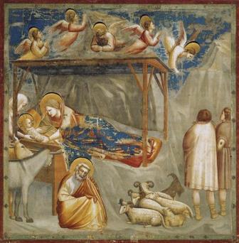 Natividade Giotto di Bondone c.1304 - c.1306