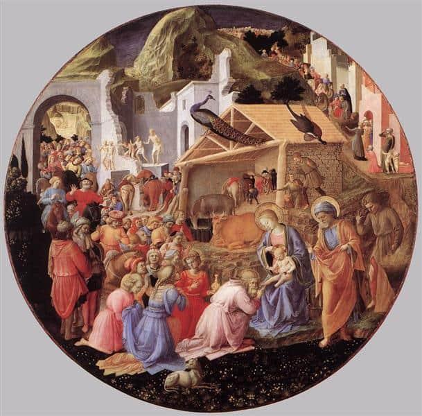 Adoração dos reis magos, Fillippo Lippi