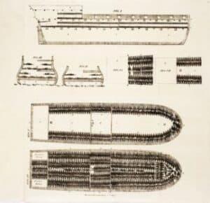 Memória da escravidão Navio de escravos negreiro inglês, 1822