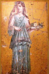 mulheres na Roma antiga Pintura de mulher Villa San Marco Sec I