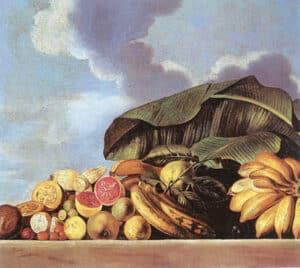 Goiabas, bananas e outras frutas, de Albert Eckhout.