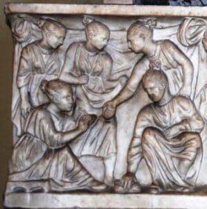 jovens romanas mulheres na Roma antiga