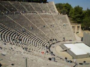 dia mundial do teatro anfiteatro de Epidauro