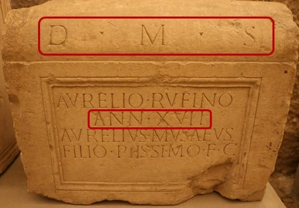 Epigrafia Latina Análise de uma epígrafe
