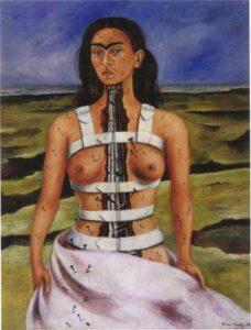 Frida Kahlo e suas obras A coluna partida 1944