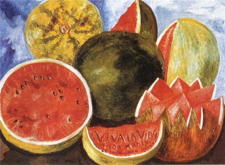 Frida Kahlo e suas obras Viva la Vita, 1954