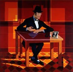 Almada Negreiros, Retrato de Fernando Pessoa,1954