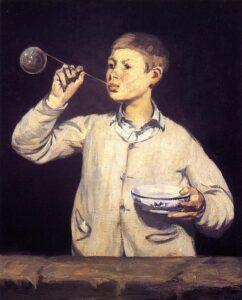 Edouard Manet, Rapaz fazendo bolhas, Museu Calouste Gulbenkian, Lisboa, Portugal.